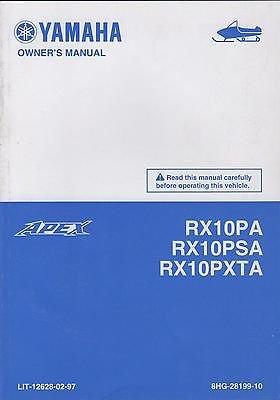 2011 Yamaha Snowmobiles - 2011 Yamaha Snowmobile Rx10Pa, Rx10Psa, Rx10Pxta Owners Manual(973)