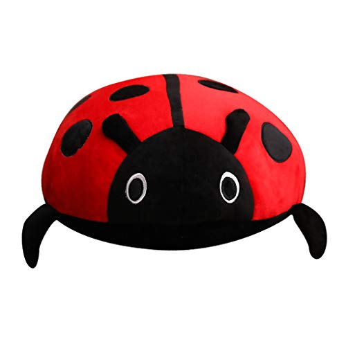 KEELAA Ladybug Plush Pillow Cushion Stuffed Animal Plush Soft Toy 31.5 in