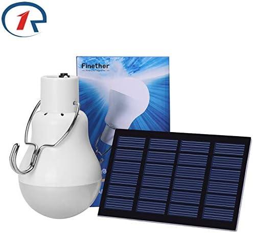 LUCE LED solari all/'aperto 15W 130LM Lampada Solare Portatile Lampadina Lampada Energia Solare.