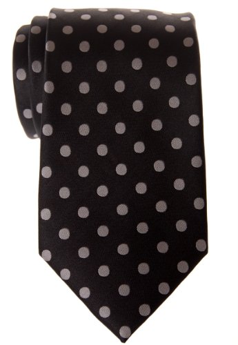 Classic Microfiber Various Dots Tie Men's Retreez Grey Dots Black Colors Polka Woven With dn6ZIdFf
