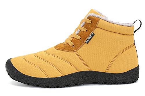 Bottines Femme Hiver Botte Koudyen Chaussures Bottes Boots Homme Chameau YwO45F