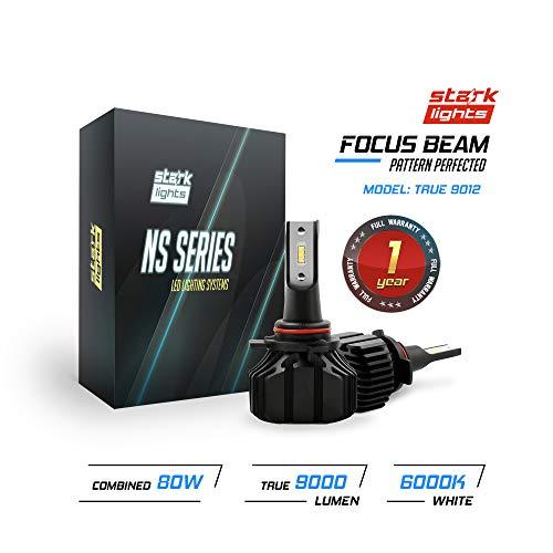 (Stark N2S Series [Upgraded] 80W Headlight Conversion Kit - 9000LM - 6000K Crystal White - Bulb Size: 9012 (True 9012))