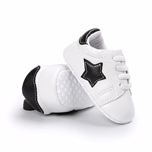 Clode® Baby Mädchen Jungen Schuh Casual Start Schuhe Sneaker Anti-Rutsch-weiche Sohle Kleinkind Schwarz