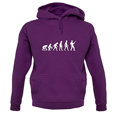 Dressdown Evolution of Man Bass Guitar Player - Unisex Hoodie-Purple-Small