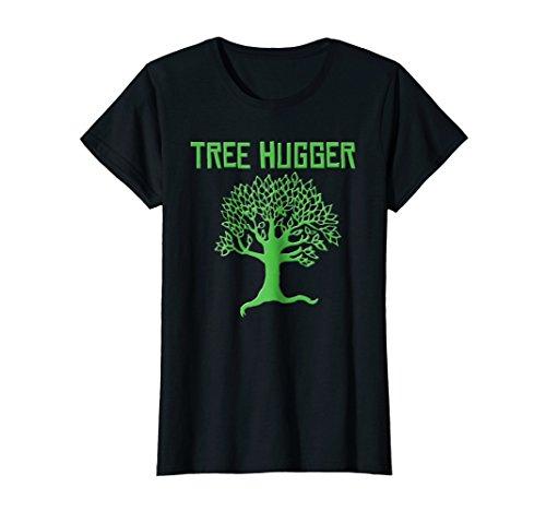 T-shirt Hugger Black (Womens Tree Hugger t-shirt (eco-friendly message) Small Black)