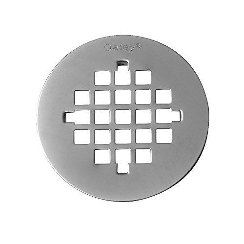 Nickel Shower Drain (Oatea|#Oatey 42018 4 1/4 In. Strainer Brushed Nickel,)