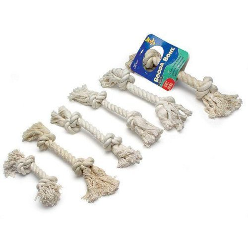 Aspen/Booda Corporation DBX50760 2-Knot Rope Bone Dog Chew Toy, X-Small (Booda Toy Dog)