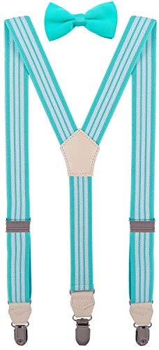 CEAJOO Little Boys' Bow Tie and Suspenders Set Adjustable Y Back 30