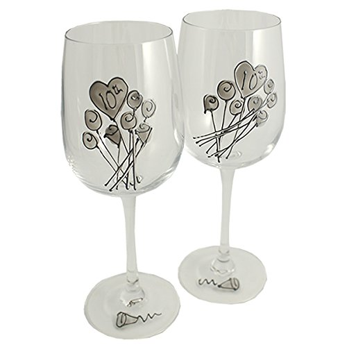 10th-Wedding-Anniversary-Wine-Glasses-Pair
