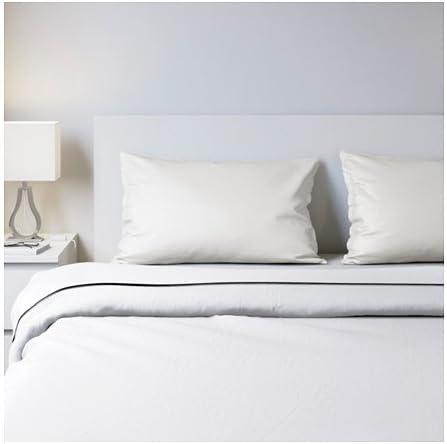 Ikea Juego de sábanas, Blanco, FullDoble: Amazon.es: Hogar