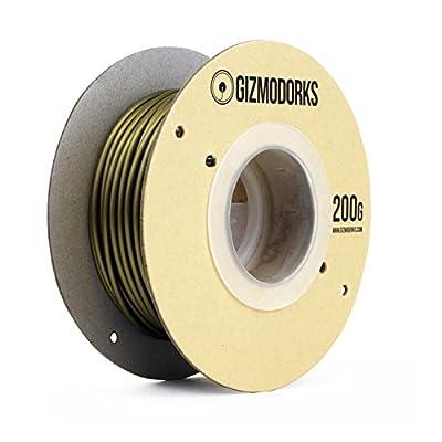 Gizmo Dorks Metal Bronze Fill Filament for 3D Printers 3mm (2.85mm) 200g