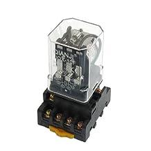 JQX-10F DC 12V Coil usage général Relais 11 Pin 3PDT 7.5A 250VAC 10A 30VDC w Socket