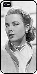 Grace Kelly- Hard Black Plastic Snap - On Case with Soft Black Rubber Lining-Apple Iphone 5C ONLY- Great Quality!