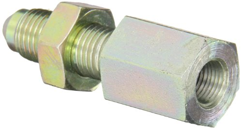(Eaton Aeroquip 2239-2-4S Female Bulkhead Connector, JIC 37 Degree & NPT End Types, Carbon Steel, 1/4 JIC(m) x 1/8 NPT(f) End Size, 1/4