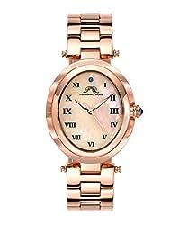 Porsamo Bleu South Sea Oval Stainless Steel Rose Tone Women's Watch 105ASSO