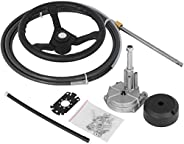 VEVOR Outboard Steering System SS13716 Safe-T Quick Connect Rotary Steering System Flat Interface 16' with