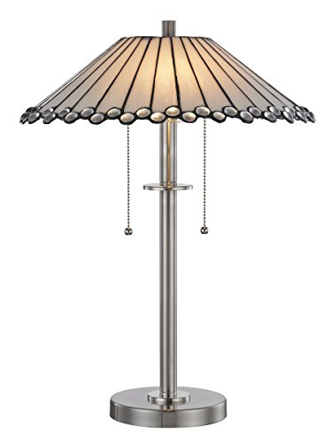 Springdale STT17021 Clearstone Tiffany Table Lamp, Brushed - Amazon Co Tiffany And