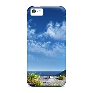 Iphone 5c Beautiful Palm Beach Print High Quality Frame Cases Covers
