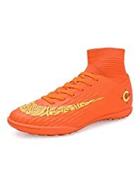 No.66 Town Unisex Cleats Couple Style AG Fluorescence Soccer Training TF Sports Shoes for Younth