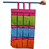 12-pocket Non-woven Shoe Organizer for Closet Rod Hanging (23