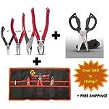 VamPLIERS. World's Best Pliers! 4-PC Set S4ATG + Tool Pouch & Super Combo Scissors
