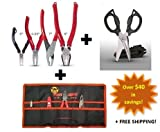 VamPLIERS. World's Best Pliers! 4-PC Set S4ATG + Tool Pouch & Super Combo Scissors
