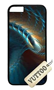 iPhone 6 Case,VUTTOO iPhone 6 Cover With Photo: Blue Gold Abstract Spiral D For Apple iPhone 6 4.7Inch - PC Black Hard Case