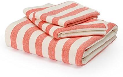 DACHUI Plaza de algodón absorbente toalla de baño Toalla Facial set baño ducha doble cara suave toalla grande, rojo