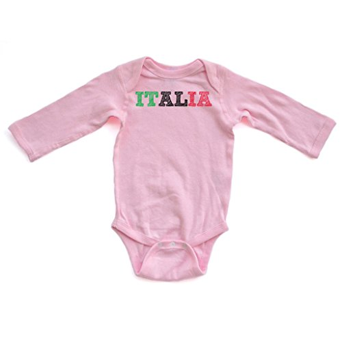 Apericots Italia Italy Flag Italian Long Sleeve Infant Bodysuit