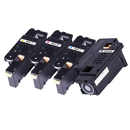 (Compatible with Fuji XEROX XE-6000/6010BK C M Y Toner Cartridge for XEROX Phaser 6000/6010/Workcentre 6015 Color Printer,4Colors)