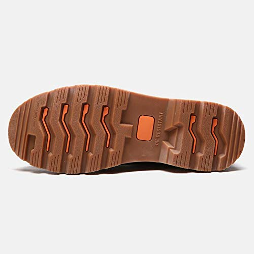 Color Sintética Negro Zapatos Yixiny Tacón Lab 1792 De Para Abc Y Alto piel Hombre Marrón qP6wvUq1