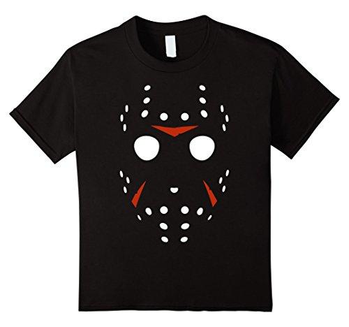 Hockey Player Costume Women (Kids Hockey Mask Scary Halloween Costume Party T-Shirt 8 Black)