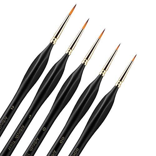Micro Detail Paint Brush Set - Triangular Wooden