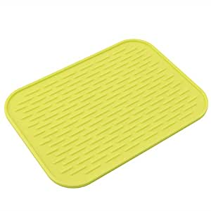 Feamos non slip silicone mat heat resistant holder for kitchen yellow home kitchen - Yellow kitchen floor mats ...