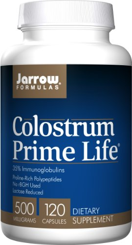 Jarrow Formulas Colostrum Prime Life, Supports Gastroinestinal, Immune, Respiratory Health, 500 mg, 120 Caps by Jarrow