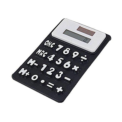 Silicone Calculator - TOOGOO(R) Silicone Magnetic Fridge Sticker 8 Digits Calculator, Black