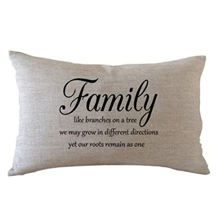 Rectangle Pillow Covers With Quotes About Family Linen Throw Pillow Covers 12 X 20 Inches For Couch
