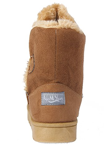 Shoes Bouton Femmes Seul Doubl Neige AgeeMi Bottes S7FUqw