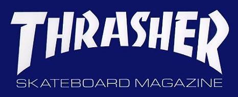 Thrasher Magazine Logo Skateboard Sticker Black skate sk8 board new skating punk