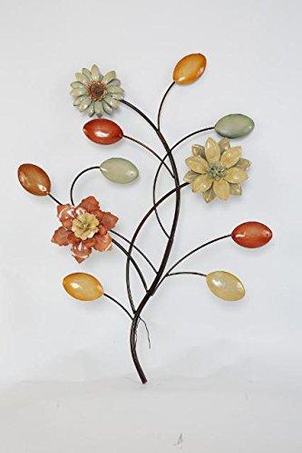 TWG Metal Wall Art Modern Wall Sculptures: Blossoming Flowers - Easter Flowers