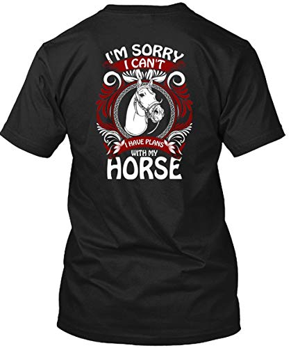 Father Shirt-I Have Plans with My Horse T Shirt, Being an Equestrian T Shirt Unisex (L,Black)]()