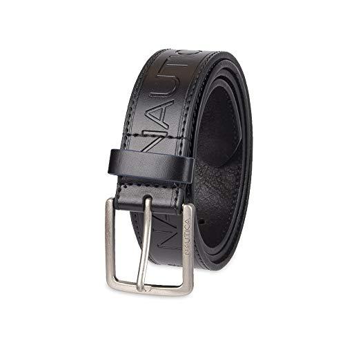 Nautica Men's Casual Belt, black emboss, 40