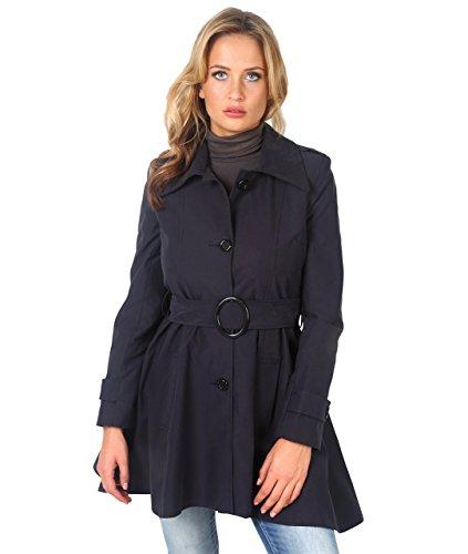 Marine Elgant Coton Femme Classique 3091 KRISP Chic Trench Manteau Bleu qxS1xw8p