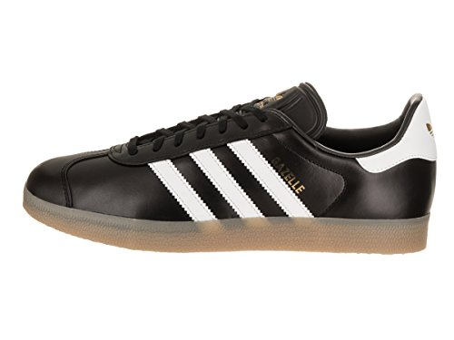 Adidas White Mens Black Gazelle Leather Core Footwear Trainers aAwa8qr