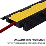F COME 4 Pack Rubber Cable Ramp Hose Cable