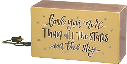 "Price comparison product image Light Box - Love You More 7"" x 2.75"" x 4"""