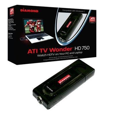 Diamond Multimedia TV Wonder 750 USB TV Tuner. DIAMOND TV WONDER 750 USB HD NTSC PAL SECAM TV TUNER TUNER. USB - PAL, ATSC, SECAM, DVB, NTSC