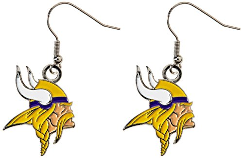 Viking Logo Ring - NFL Minnesota Vikings Logo Dangler Earrings