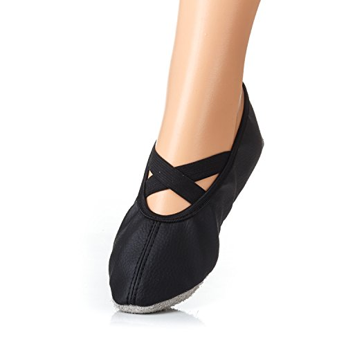 Yaro Öko - Balettschuhe, Gymnastikschuhe, Turnschuhe, Verschiedene Farben, Gr. 23 bis 42 1D schwarz