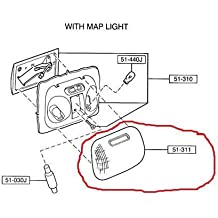 Mazda B-Series New OEM Interior Dome Light Lens Cover with Map Light ZZM2-51-311